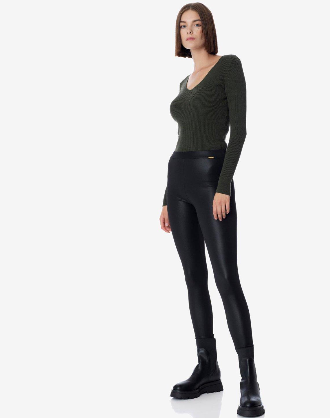 Faux leather leggings