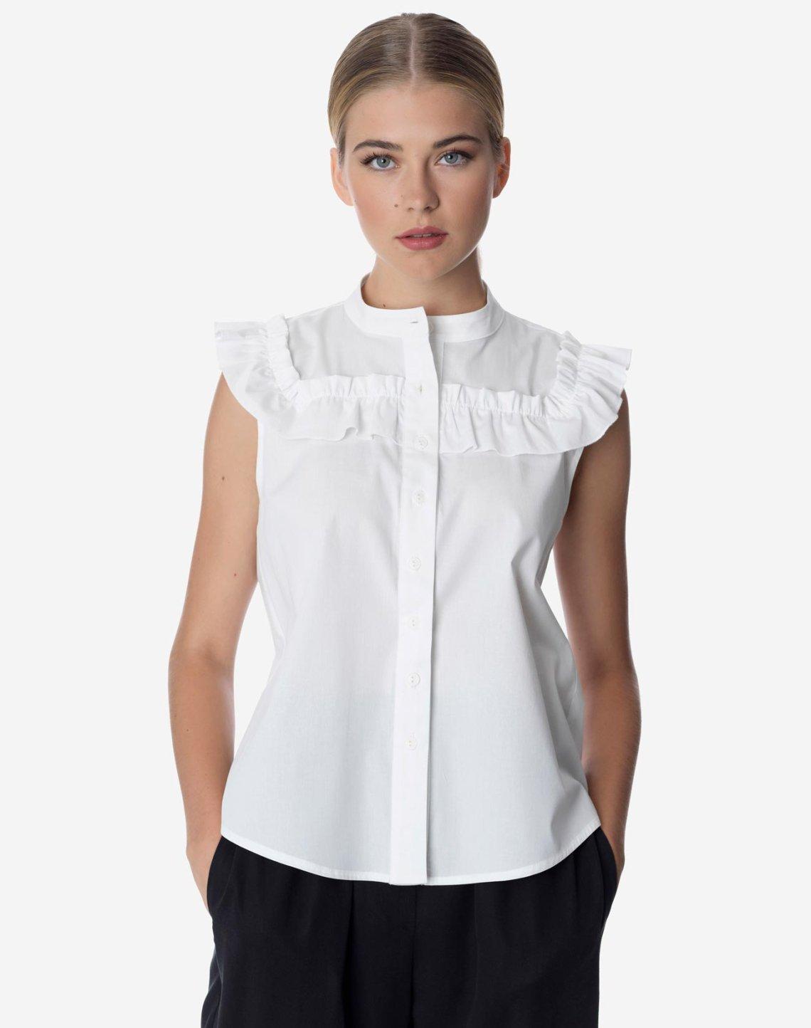 Shirt with ruffles