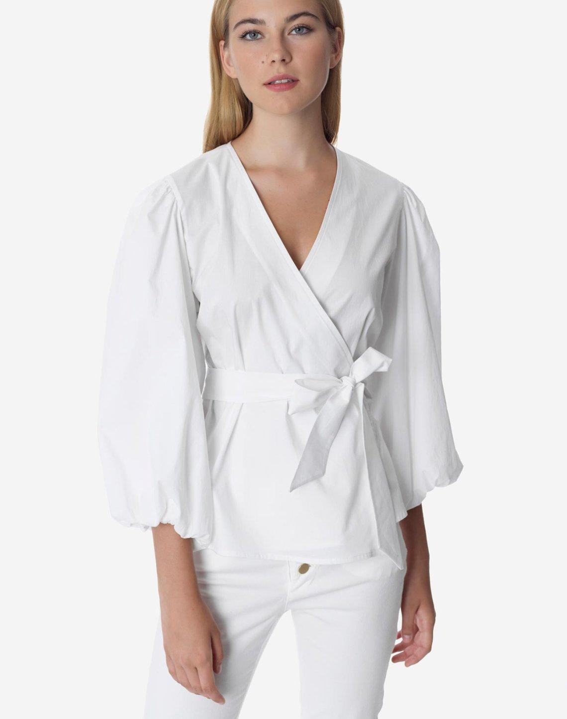 Κρουαζέ πουκάμισο με φουσκωτό μανίκι