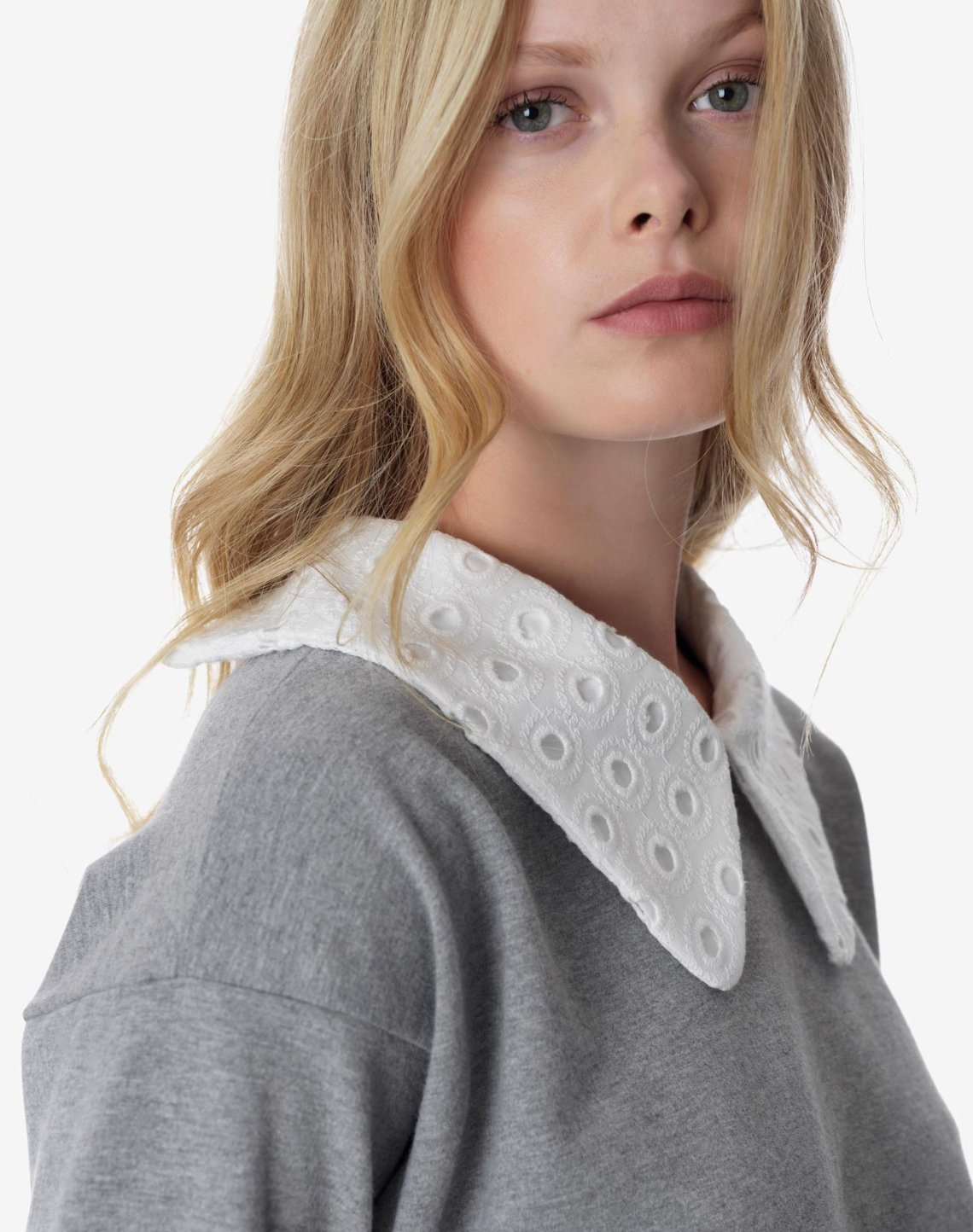 Sweatshirt with collar