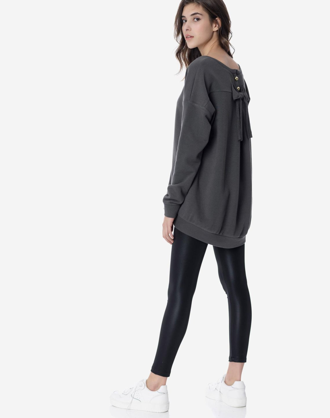 Sweatshirt with bow detail