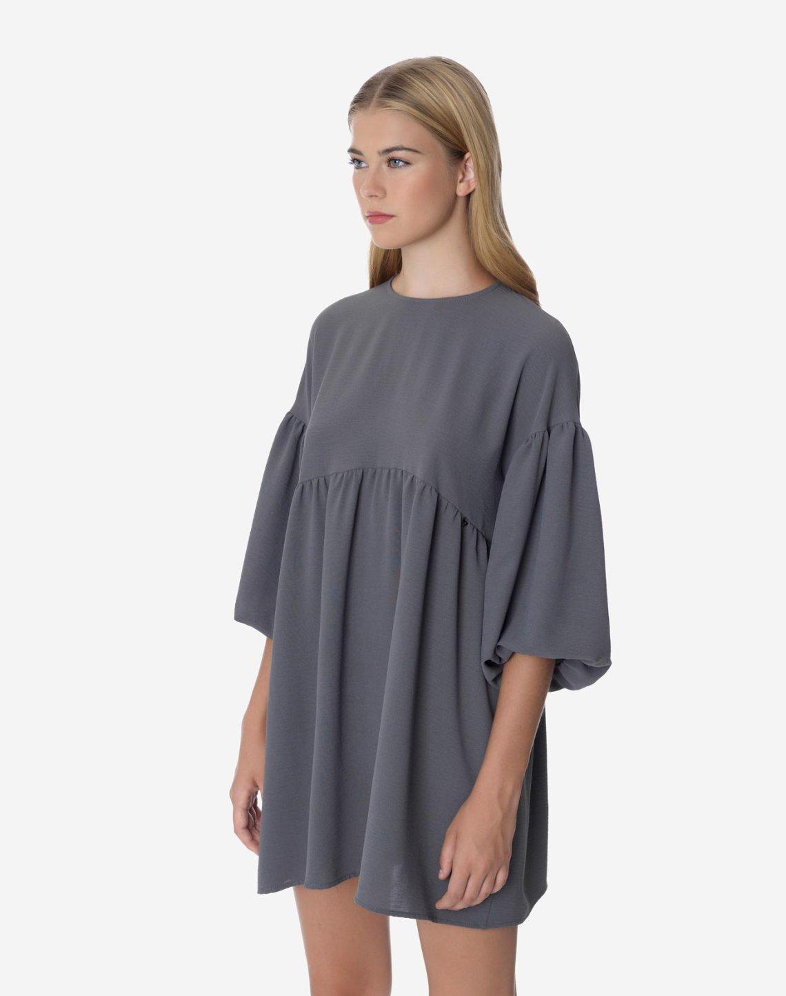 Μίνι φόρεμα με φουσκωτό μανίκι