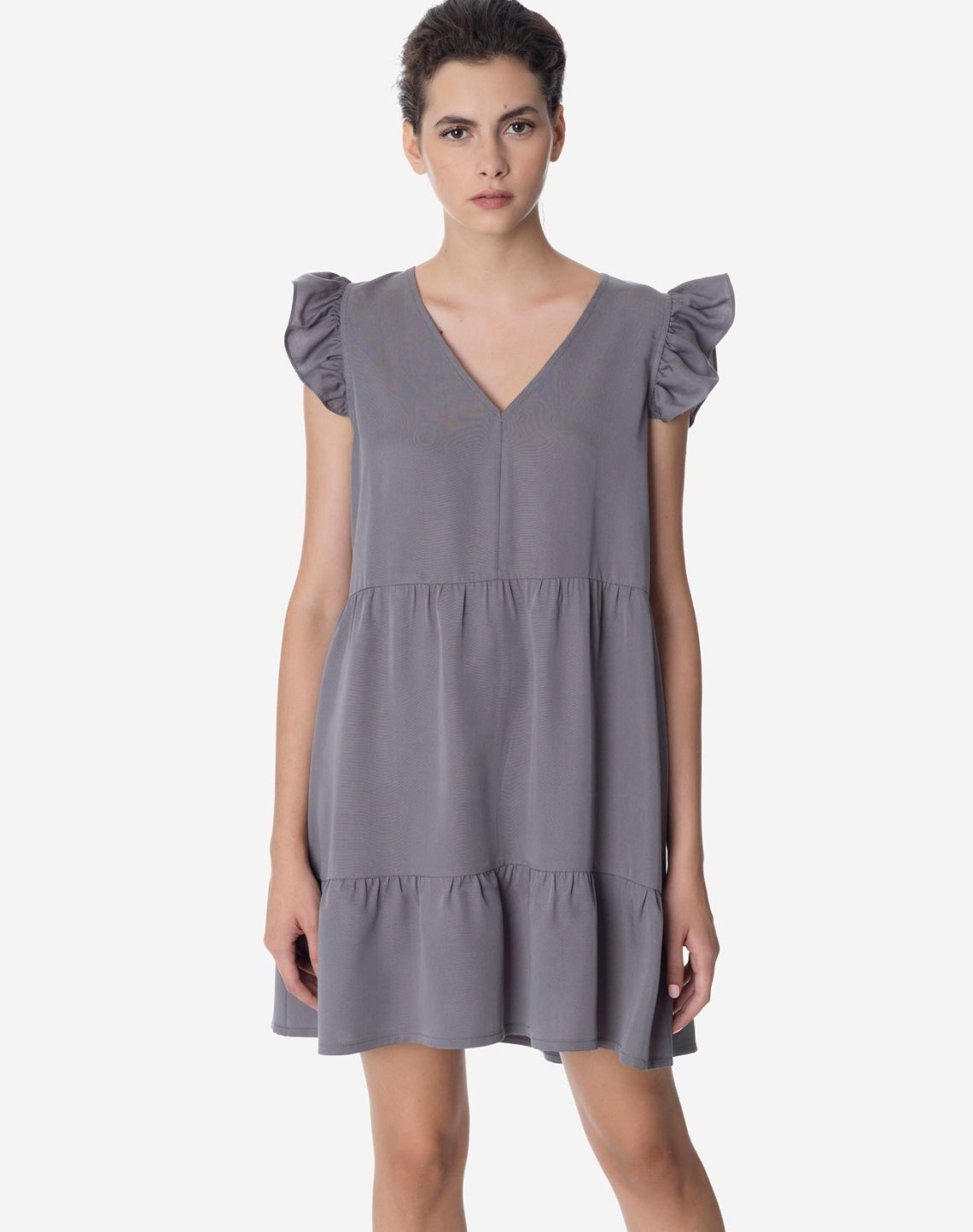 Mini dress with ruffles
