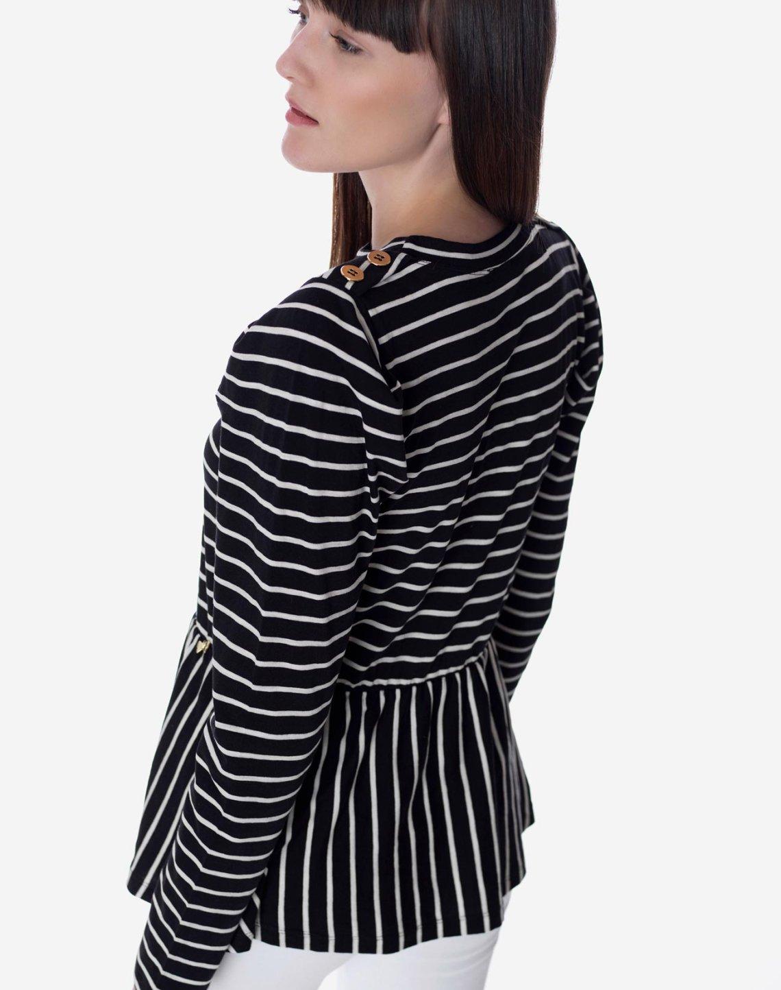 Striped peplum top