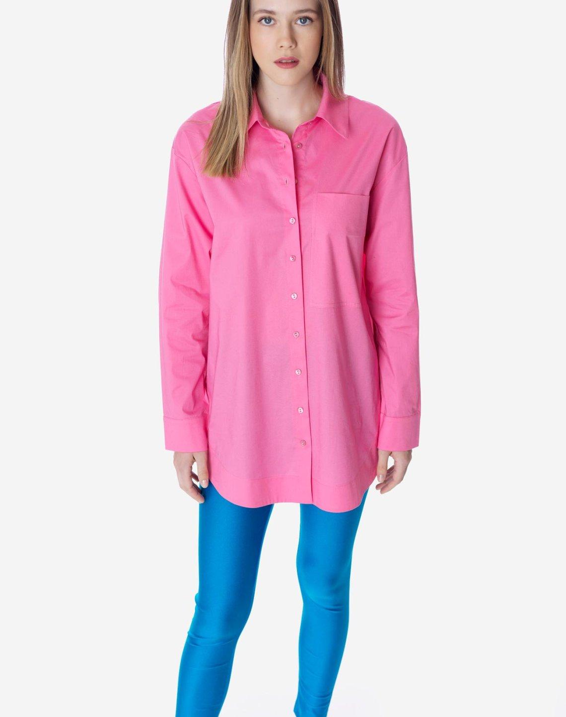 Oversized shirt with pocket