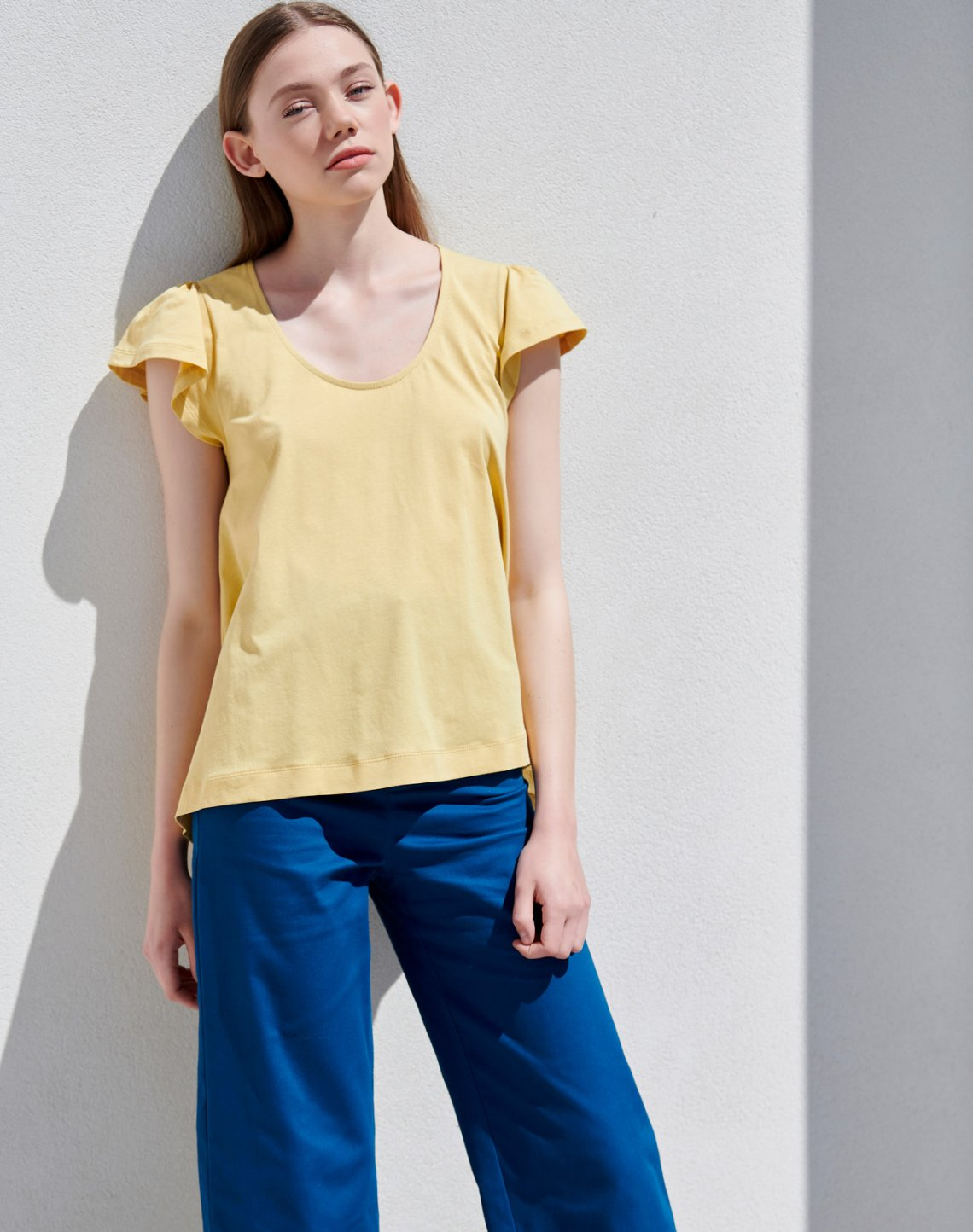 T-shirt with pleating detail