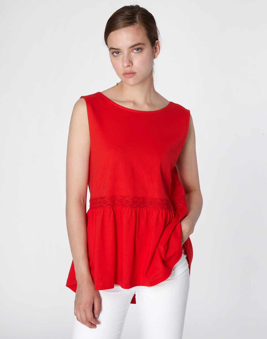 Top with bow and lace