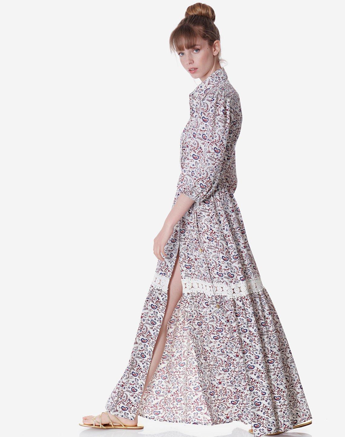 Εμπριμέ μάξι φόρεμα