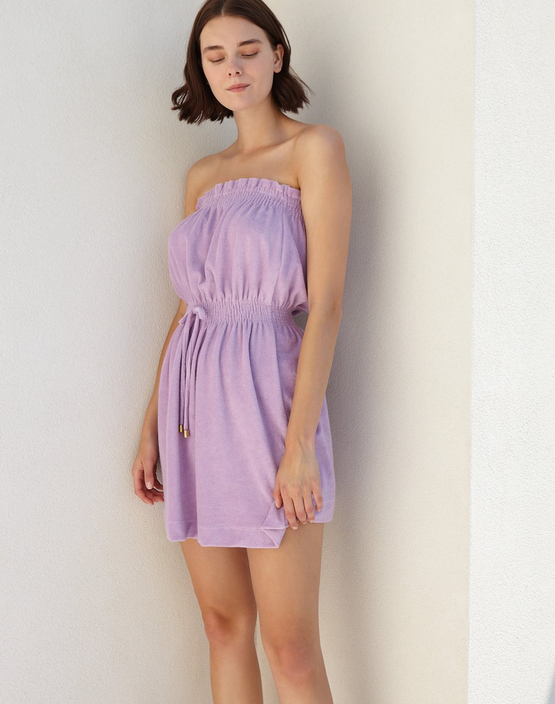 Strapless towel dress