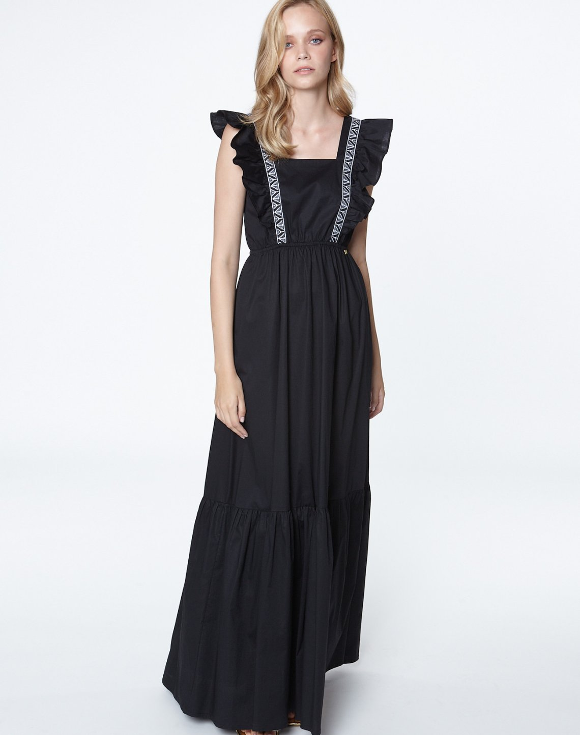 Maxi dress with bow