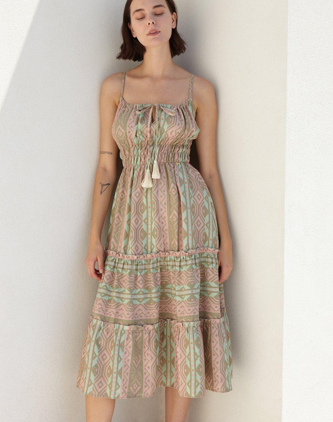 Midi jacquard dress