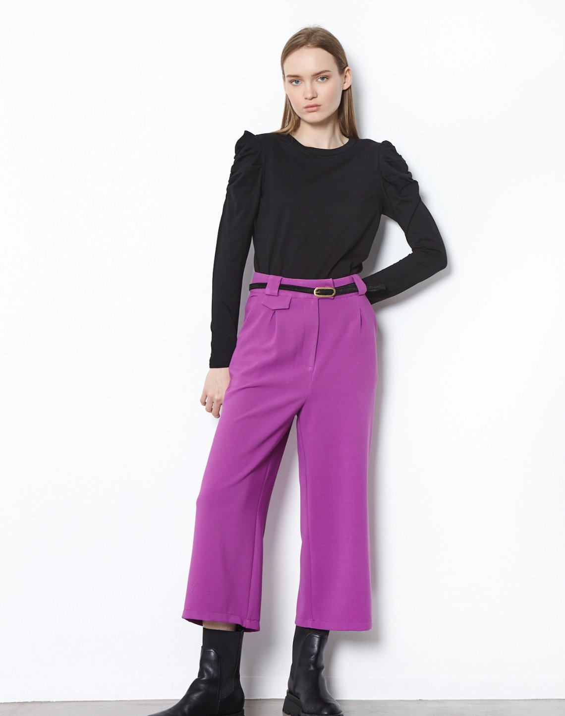 Culottes with pleating detail