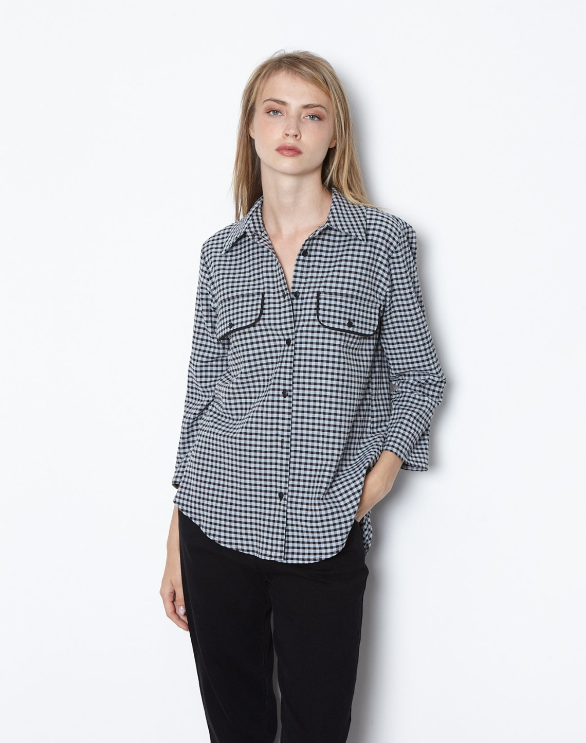 Checked shirt with pockets