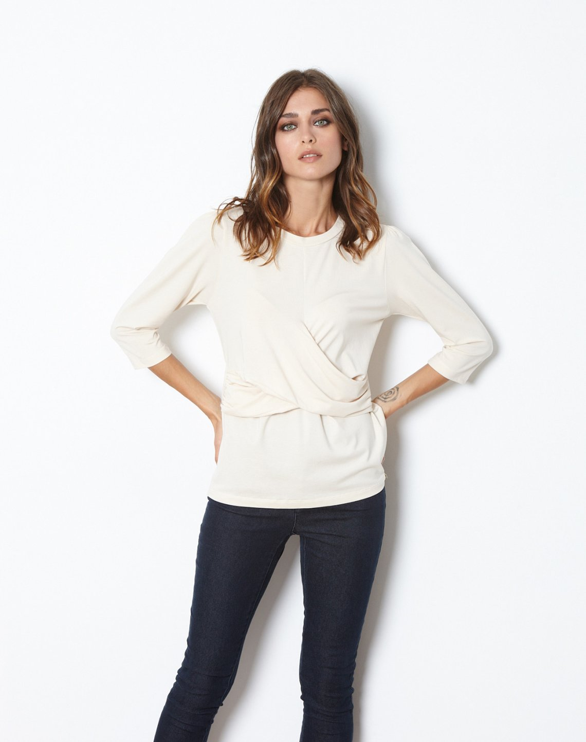 Top with wrap detail