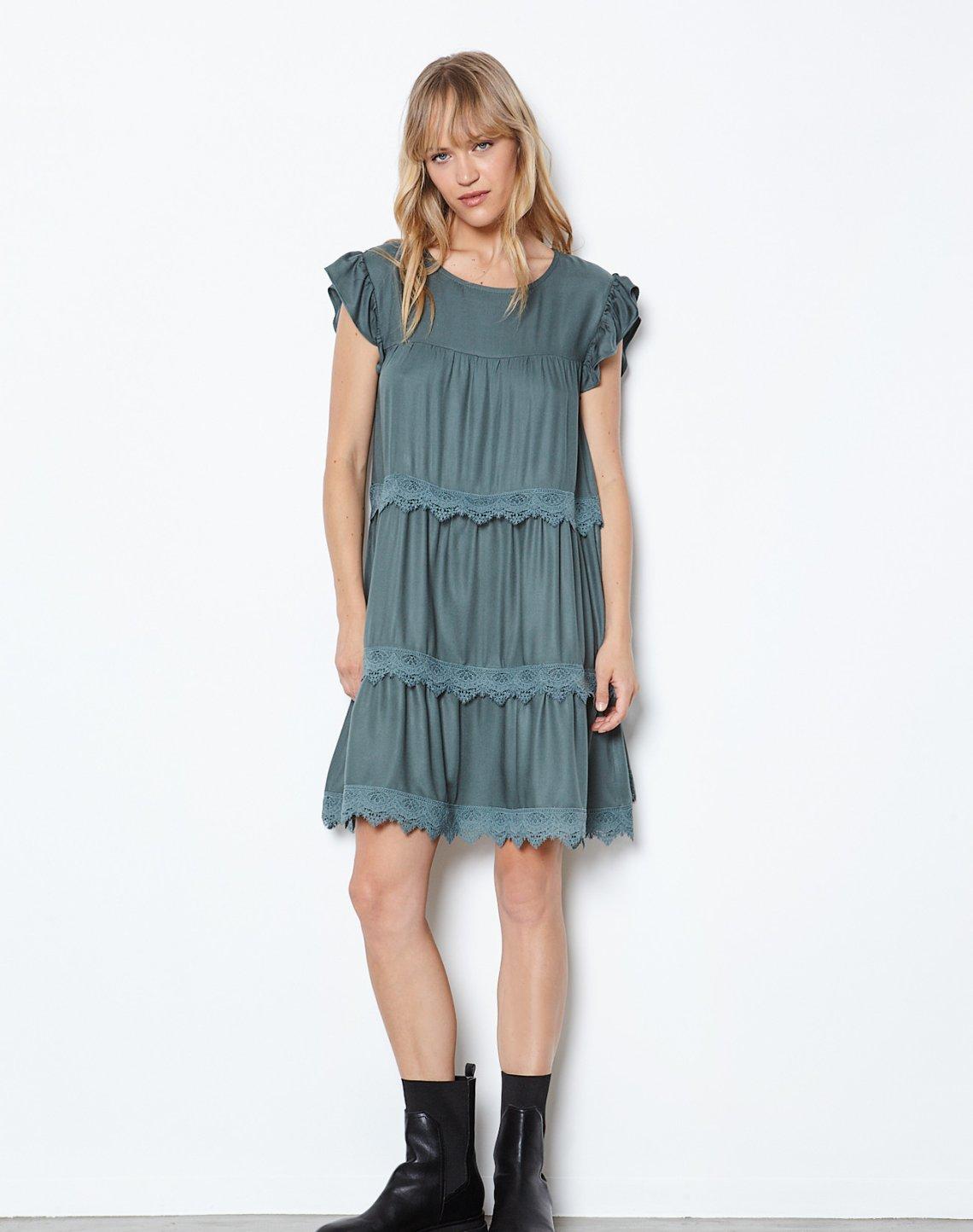 Μίνι φόρεμα με δαντέλα
