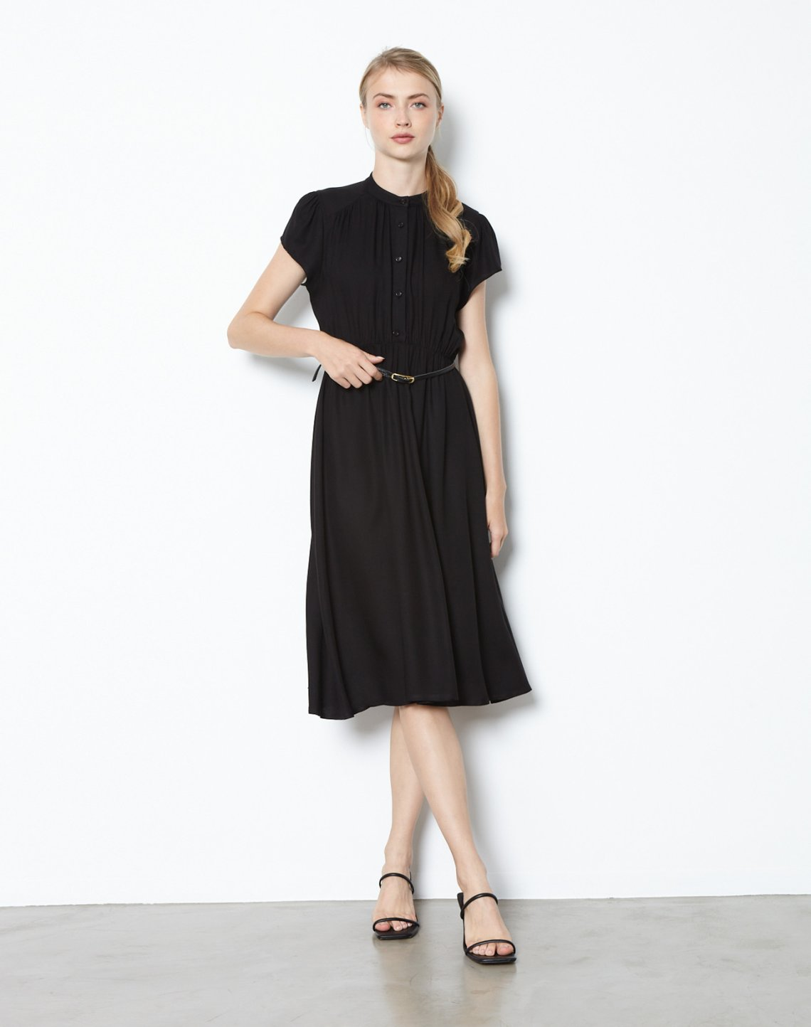 Midi dress wtih buttons