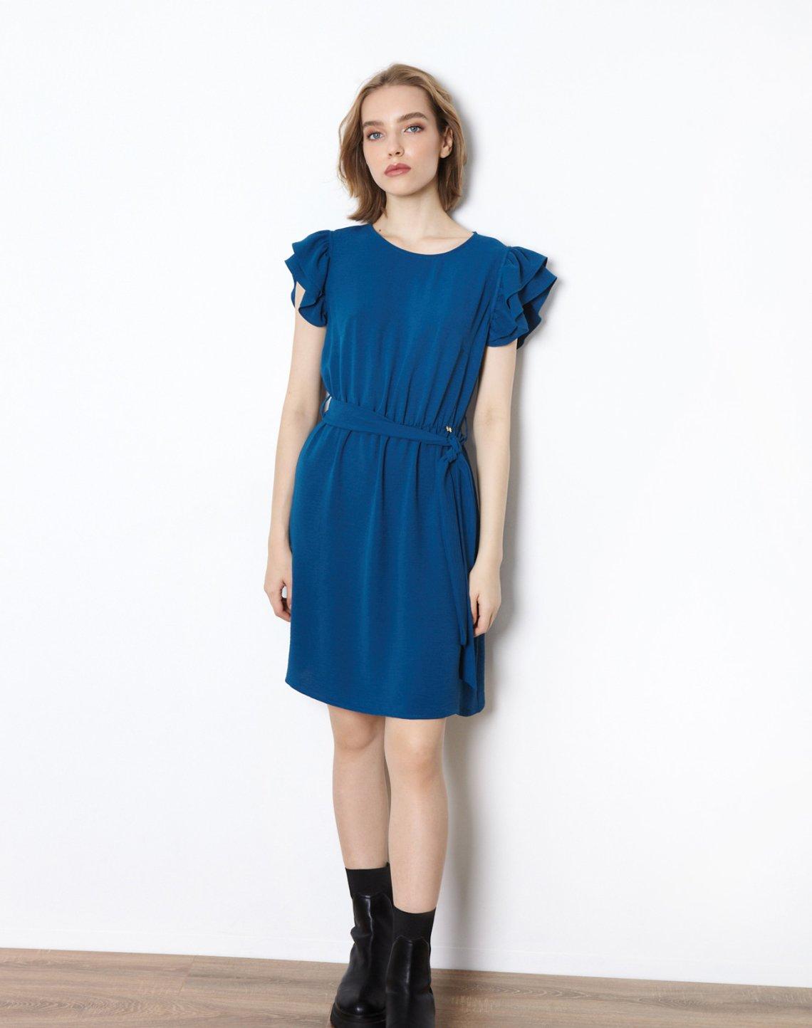 Mini dress with ruffles