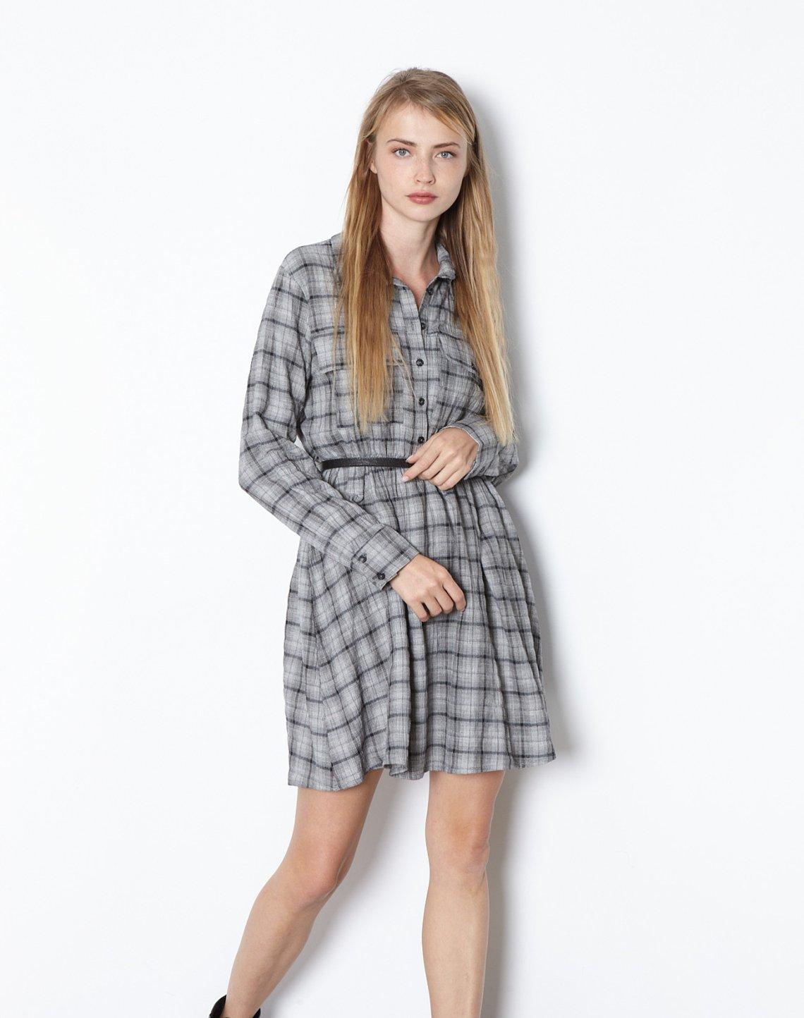 Mini checked dress